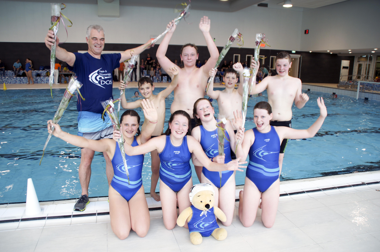 Waterpolo D-jeugd DOS/De Gendten kampioen afdeling C