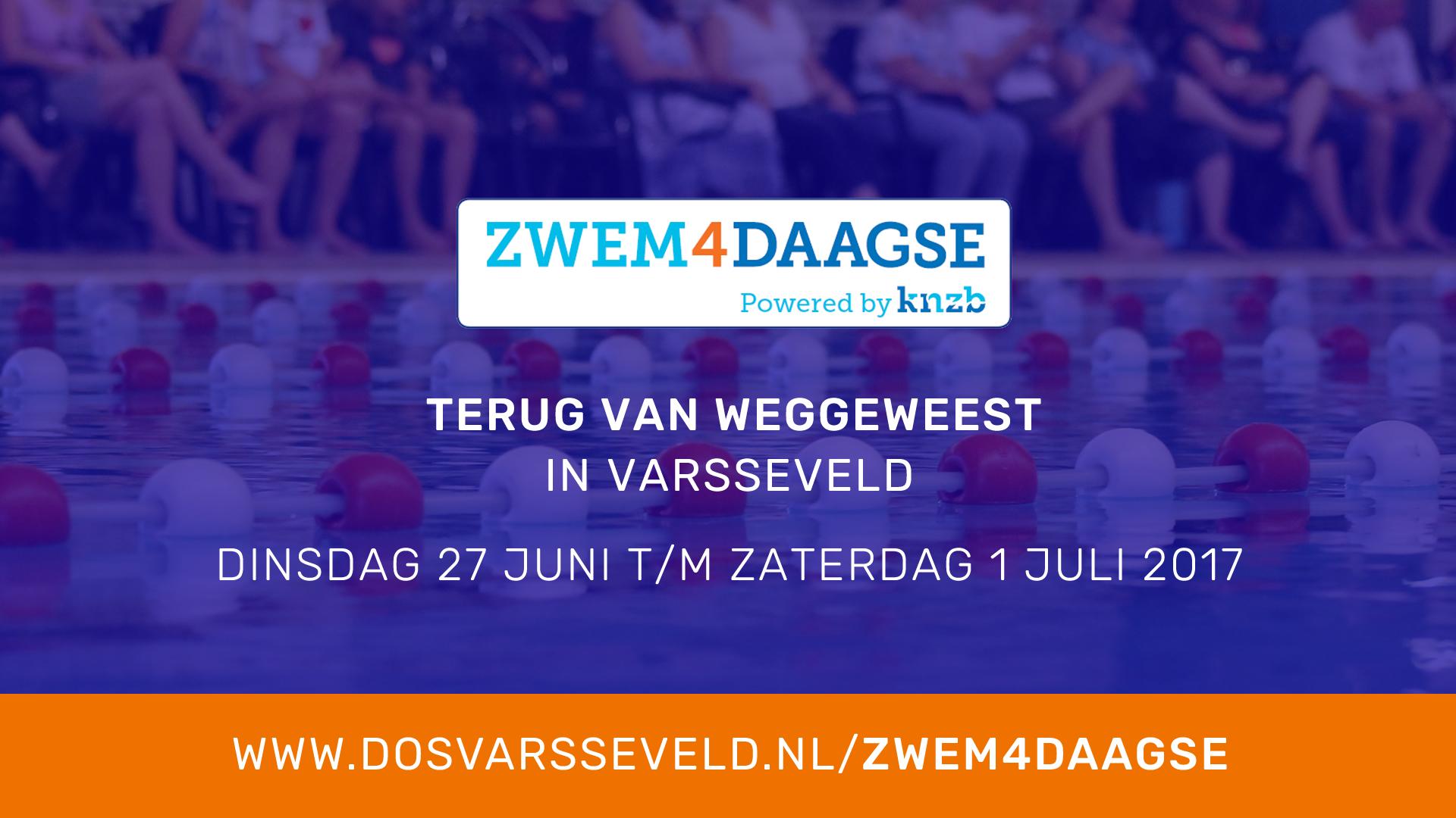 Volgende week: Varsseveldse Zwem4daagse!