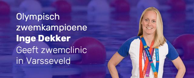 Inge Dekker geeft zwemclinic